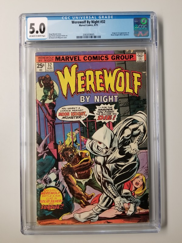WEREWOLF BY NIGHT #32 CGC 5.0 ORIGIN & 1ST APPEARANCE OF MOON KNIGHT - NEW CASE