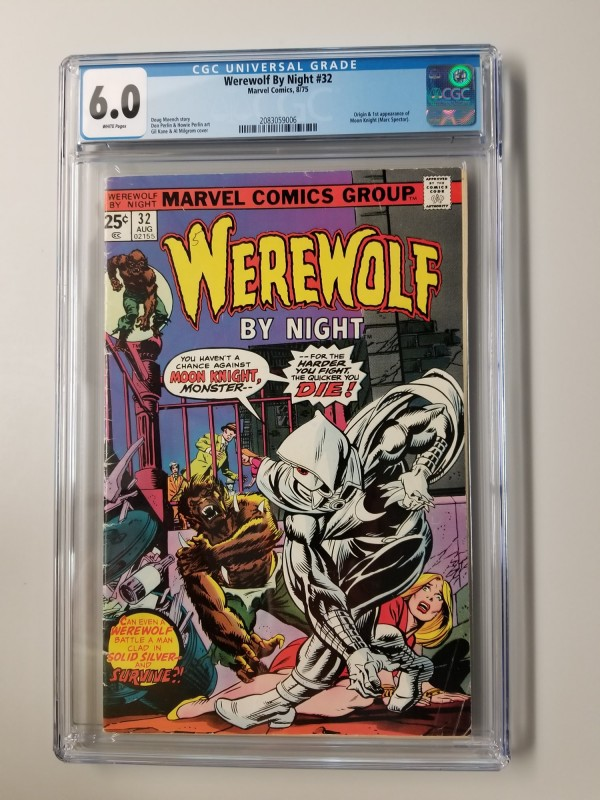 WEREWOLF BY NIGHT #32 CGC 6.0 ORIGIN & 1ST APPEARANCE OF MOON KNIGHT - NEW CASE