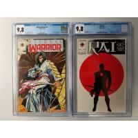 Eternal Warrior #4 CGC 9.8 and Rai #0 CGC 9.8 - Bloodshot 1st appearance