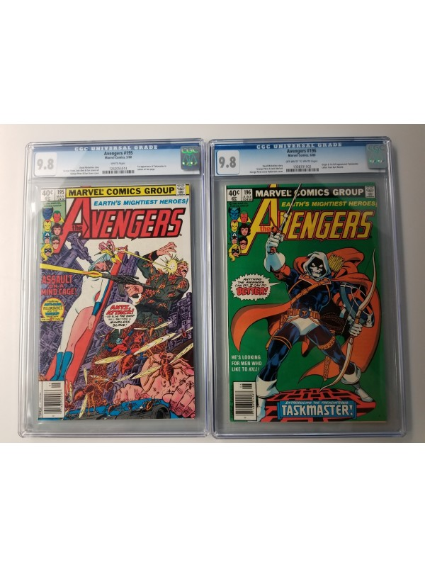 Avengers 195 and Avengers 196 CGC 9.8 (both) - TASKMASTER - 1st Appearance and Origin