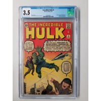 INCREDIBLE HULK #3 CGC 3.5 1ST APPEARANCE OF THE RINGMASTER - NEW CASE