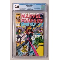 MARVEL FANFARE #11 - CGC 9.8 - 1ST APPEARANCE OF IRON MAIDEN - NEW CASE