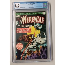 WEREWOLF BY NIGHT #33 CGC 8.0 VF - 2ND MOON KNIGHT APPEARANCE - NEW CASE