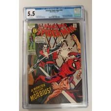 Amazing Spider-Man #101  CGC 5.5    1st Morbius Appearance - New Case