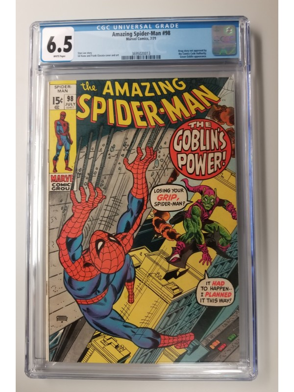 Amazing Spider-Man #98  CGC 6.5  New Case
