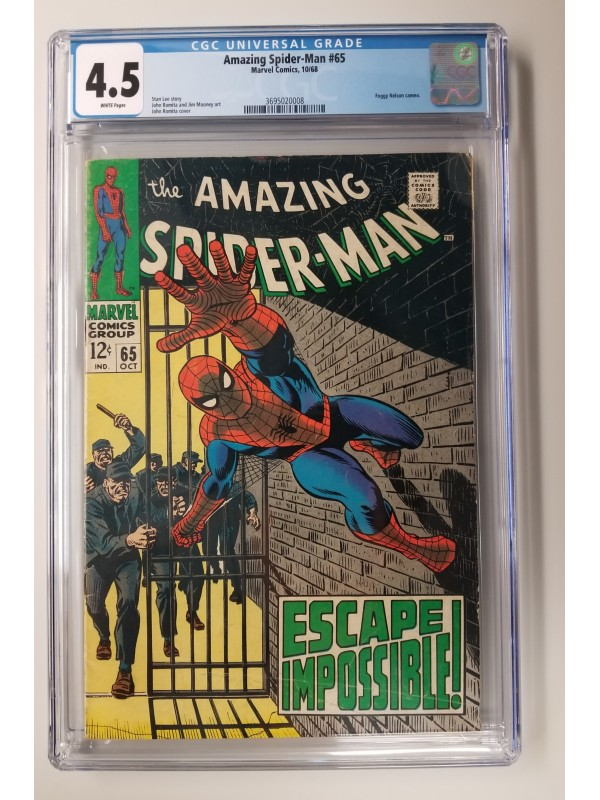 Amazing Spider-Man #65  CGC 4.5  -   Foggy Nelson Cameo - New Case