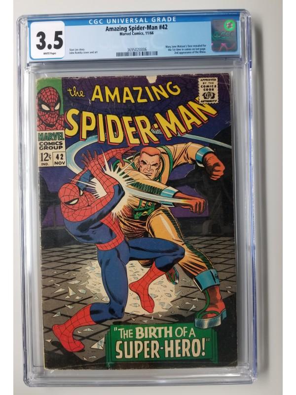 Amazing Spider-Man #42  CGC 3.5 - 2nd Rhino / 1st MJ Cameo - New Case