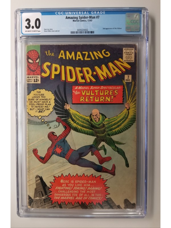 Amazing Spider-Man #7  CGC 3.0  2nd Vulture Appearance  - New Case