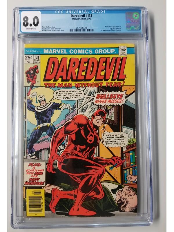Daredevil  #131 CGC 8.0  - 1st Appearance and Origin of New Bullseye - New Case