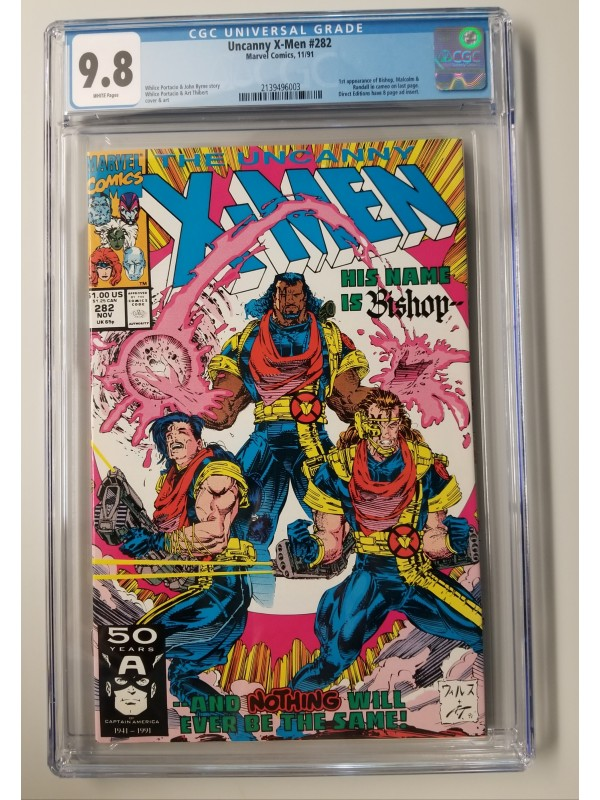 Uncanny X-Men #282 CGC 9.8 - 1st Appearance of Bishop - New Case