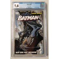Batman #608  CGC 9.6 - New York Post Edition  - Jim Lee Art - Promotional Reprint - New Case