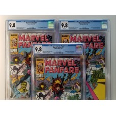 3 COPIES OF MARVEL FANFARE #11 - (All) CGC 9.8 - 1ST APPEARANCE OF IRON MAIDEN