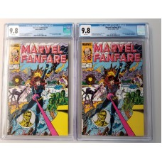 2 COPIES OF MARVEL FANFARE #11 - (BOTH) CGC 9.8 - 1ST APPEARANCE OF IRON MAIDEN