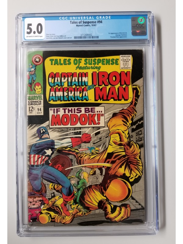 Tales of Suspense #94 CGC 5.0 - 1st Appearance of M.O.D.O.K - New Case