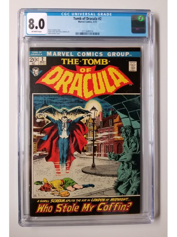 Tomb Of Dracula #2 CGC 8.0 - New Case