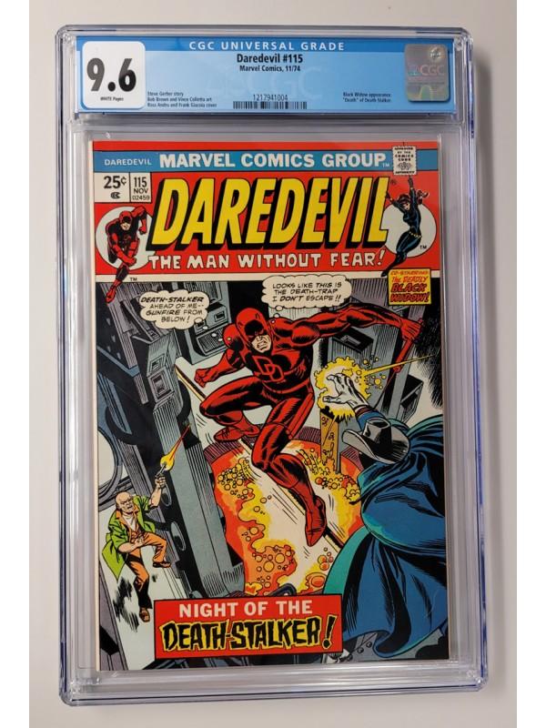 Daredevil #115 - CGC 9.6 -  Ad for Incredible Hulk #181 - High Grade