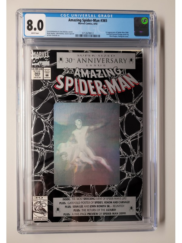 Amazing Spider-Man #365 CGC 8.0 - 1st Appearance of Spider-Man 2099 - New Case