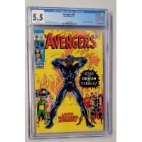 Avengers #87 CGC 5.5 - Black Panther Origin - New Case