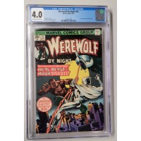 Werewolf By Night #33 CGC 4.0 - White Pages  -  2nd Moon Knight Appearance