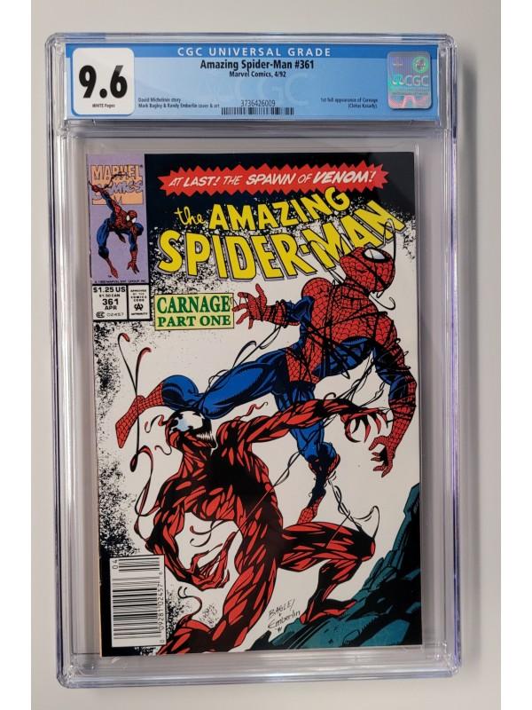 Amazing Spider-Man #361 CGC 9.6 - 1st Print - NEWSTAND Edition