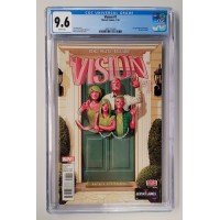 Vision #1 CGC 9.6 - White Pages  -  New Case