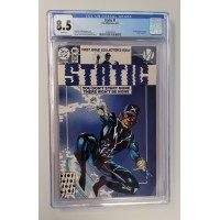 Static #1 CGC 8.5 D.C./Milestone - 1st Static Appearance Virgil Hawkins New Case