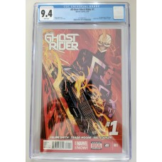 All New Ghost Rider #1 CGC 9.4 - 1st Appearance of new Ghost Rider - Robbie Reyes - New Case