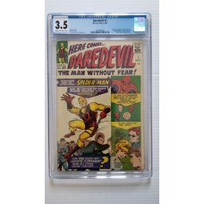DAREDEVIL #1 CGC 3.5 ORIGIN & 1ST APPEARANCE OF DAREDEVIL - NEW CASE