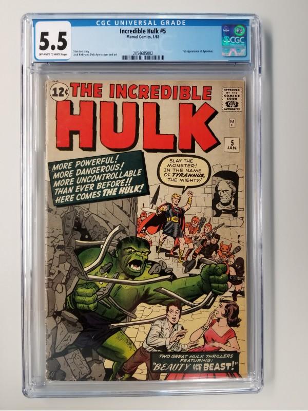 Incredible Hulk # 5 CGC 5.5 - 1st Appearance of Tyrannus