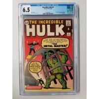 Incredible Hulk #6 CGC 6.5 -- Last issue; 1st Teen Brigade & Metal Master