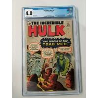 Incredible Hulk #2 CGC 4.0 1st Appearance of Green Hulk