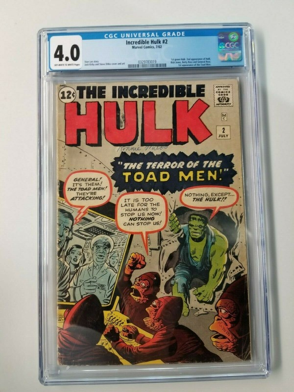 Incredible Hulk #2 CGC 4.0 1st Appearance of Green Hulk