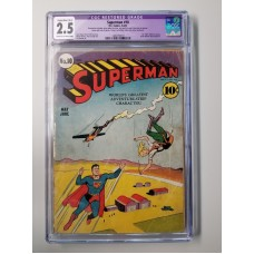 SUPERMAN #10 CGC 2.5 GD+ 1st Bald Luthor Slight/Mod Restoration 1941