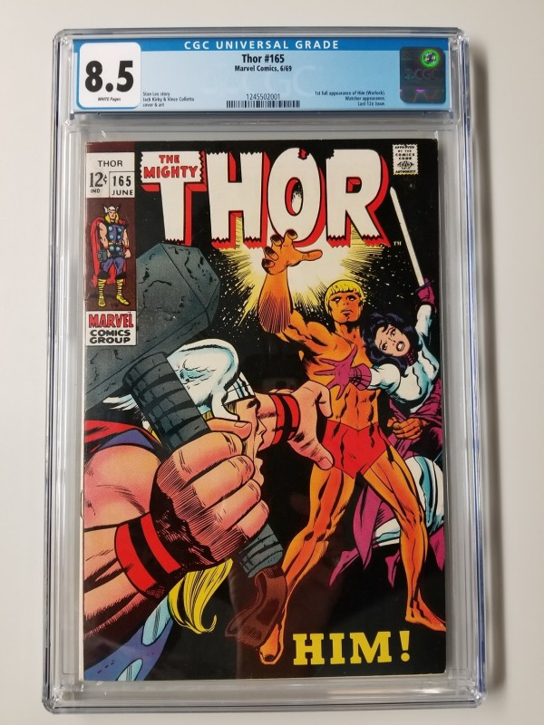 Thor #165  CGC 8.5  1st Full Appearance of HIM (Warlock)