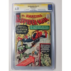 AMAZING SPIDER-MAN #14 CGC 6.0 SIGNATURE AUTOGRAPH STAN LEE 1ST GREEN GOBLIN