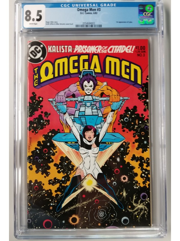 Omega Men 3 -1st Appearance of Lobo - CGC 8.5